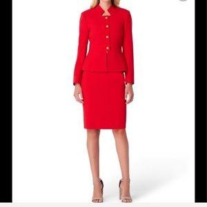 "✨Tahari ""Fire Red"" Suit Skirt & Blazer Set✨"